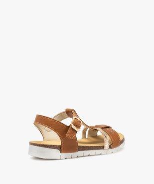 Sandales fille dessus cuir à semelle crantée - Bopy vue4 - BOPY - GEMO