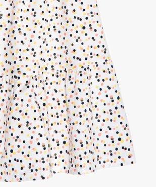 Robe fille imprimée à fines bretelles et coupe évasée vue2 - GEMO (ENFANT) - GEMO