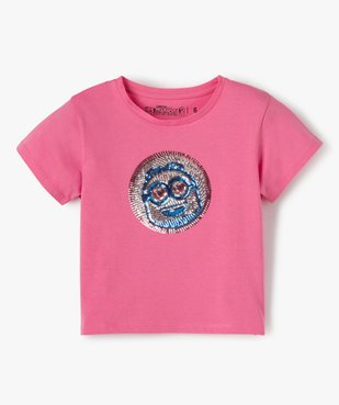 Tee-shirt fille avec motif en sequins brodés – Les Minions 2 vue1 - NBCUNIVERSAL - Nikesneakers