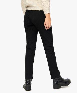 Pantalon femme en toile unie coupe droite 5 poches- Longueur L26 vue3 - GEMO (JEAN) - GEMO