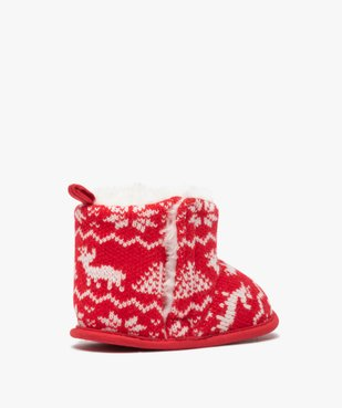 Chaussons de naissance bébé boots de Noël vue4 - GEMO(BB COUCHE) - GEMO
