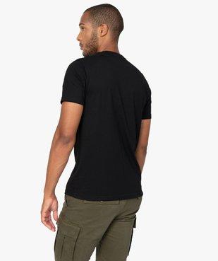 Tee-shirt homme chiné à manches courtes et col tunisien  vue3 - GEMO C4G HOMME - GEMO