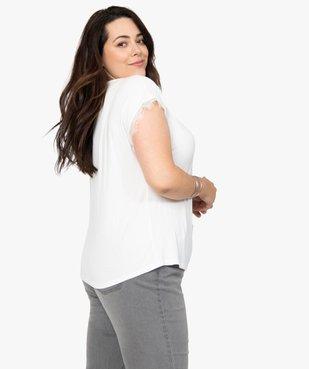 Tee-shirt femme sans manches avec finitions dentelle vue3 - GEMO (G TAILLE) - GEMO