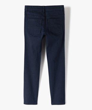 Pantalon garçon uni coupe Slim extensible  vue4 - Nikesneakers (ENFANT) - Nikesneakers
