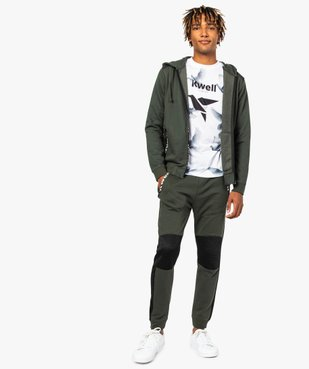 Sweat homme zippé avec empiècements épaules - Kwell by Soprano vue5 - KWELL - GEMO