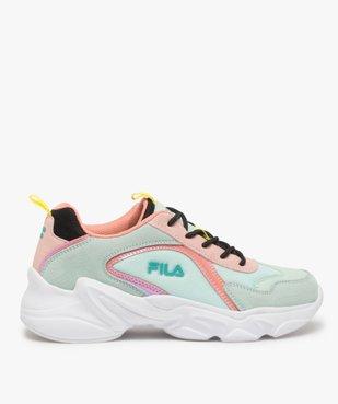 Baskets femme à semelle épaisse look dad shoes - FILA à reflets irisés vue1 - FILA - GEMO