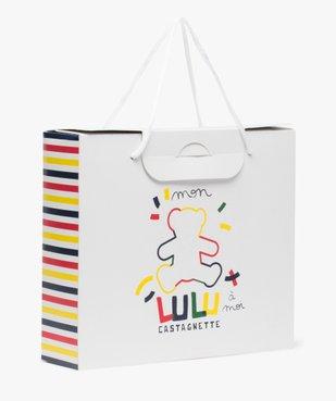 Boite cadeau bébé tricolore en papier recyclé - LuluCastagnette vue1 - LULU CASTAGNETT - GEMO