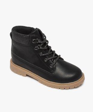 Boots fille avec col fantaisie et semelle crantée vue5 - Nikesneakers (ENFANT) - Nikesneakers