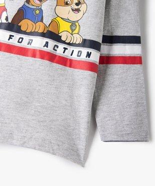 Tee-shirt garçon à manches longues imprimé - La Pat'Patrouille vue3 - PAT PATROUILLE - GEMO
