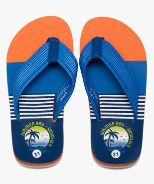Tongs garçon imprimées surf à entre-doigts en toile vue1 - Nikesneakers (ENFANT) - Nikesneakers