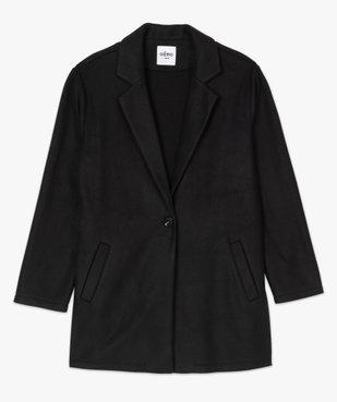 Manteau femme en maille polaire avec grand col vue4 - GEMO (G TAILLE) - GEMO