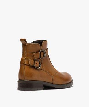 Boots fille dessus cuir uni à bride décorative vue4 - GEMO (ENFANT) - GEMO