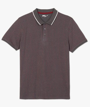 Polo homme à manches courtes et micro-motif vue4 - Nikesneakers C4G HOMME - Nikesneakers