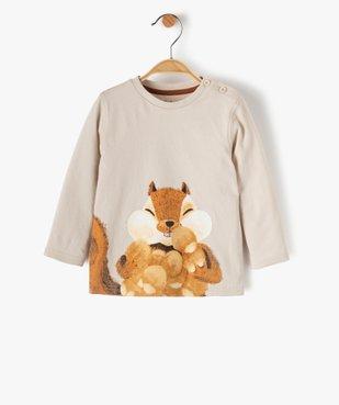 Tee-shirt bébé garçon avec motif écureuil vue1 - GEMO(BEBE DEBT) - GEMO