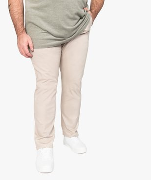 Pantalon homme chino en stretch coupe straignt vue1 - GEMO (G TAILLE) - GEMO