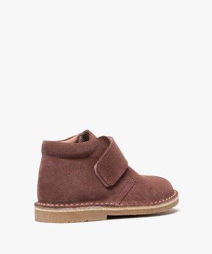 Boots enfant unis en cuir à fermeture scratch vue4 - GEMO (ENFANT) - GEMO