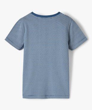 Tee-shirt garçon à fines rayures vue3 - GEMO C4G GARCON - GEMO