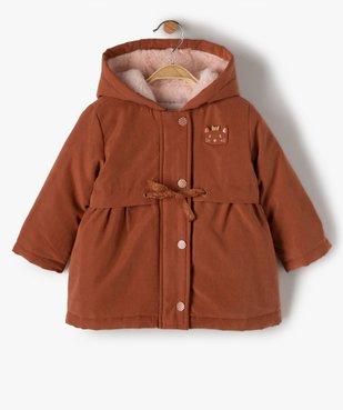 Manteau bébé fille à capuche 3 en 1 vue1 - GEMO(BEBE DEBT) - GEMO