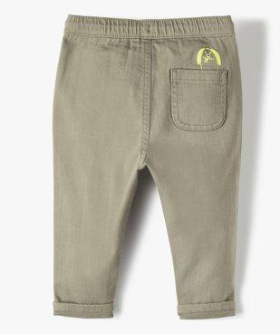 Pantalon bébé garçon en toile avec larges poches plaquées vue3 - Nikesneakers(BEBE DEBT) - Nikesneakers