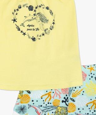 Pyjashort fille à bretelles et motifs marins vue3 - GEMO (ENFANT) - GEMO