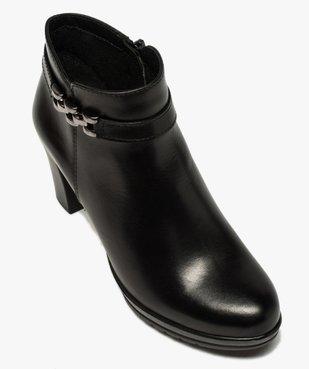Boots femme unies à talon haut et bride décorative vue5 - GEMO(URBAIN) - GEMO