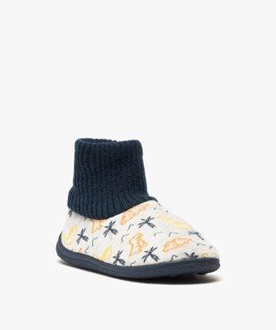 Chaussons garçon boots en velours et col chaussette vue2 - Nikesneakers C4G GARCON - Nikesneakers