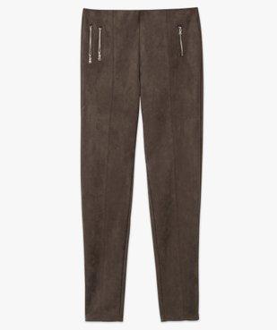 Pantalon femme en velours coupe ajustée vue4 - GEMO(FEMME PAP) - GEMO