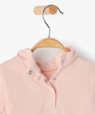 Tee-shirt bébé fille col roulé manches blousantes vue3 - Nikesneakers C4G BEBE - Nikesneakers