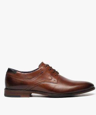 Derbies homme dessus et intérieur cuir avec col perforé vue1 - Nikesneakers(URBAIN) - Nikesneakers