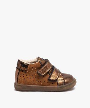 Chaussures de marche bébé dessus cuir brillant - Bopy vue1 - BOPY - Nikesneakers