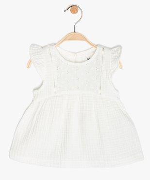 Blouse bébé fille ample en double gaze de coton vue1 - GEMO (ENFANT) - GEMO