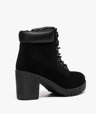 Boots femme à talon et semelle crantée vue4 - GEMO(URBAIN) - GEMO