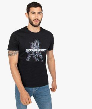 Tee-shirt homme à manches courtes imprimé - Rick et Morty vue1 - RICK ET MORTY - GEMO