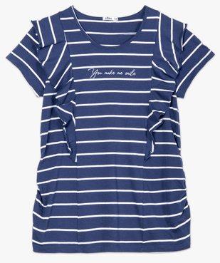 Tee-shirt de grossesse rayé à message et volants vue4 - Nikesneakers (MATER) - Nikesneakers