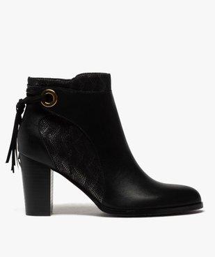 Boots femme à talon avec laçage fantaisie sur le contrefort vue1 - GEMO(URBAIN) - GEMO