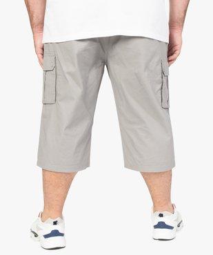 Pantacourt homme en toile unie avec larges poches vue3 - GEMO (G TAILLE) - GEMO