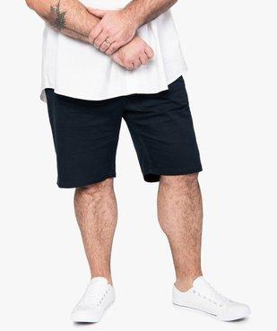 Bermuda homme uni coupe droite vue1 - GEMO (G TAILLE) - GEMO