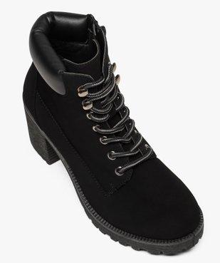 Boots femme à talon et semelle crantée vue5 - GEMO(URBAIN) - GEMO