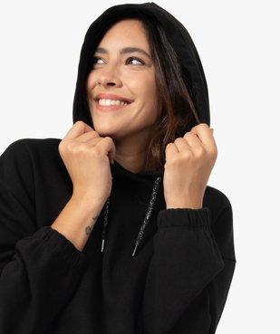 Sweat femme à capuche avec finitions élastiquées vue2 - GEMO(FEMME PAP) - GEMO