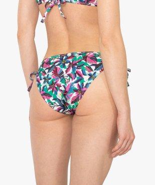 Bas de maillot de bain femme forme slip avec liens vue2 - GEMO (PLAGE) - GEMO