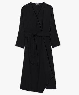 Robe femme à manches longues avec ceinture vue4 - GEMO(FEMME PAP) - GEMO