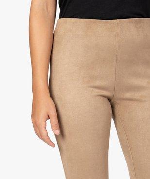 Legging femme en maille suédine vue2 - GEMO(FEMME PAP) - GEMO