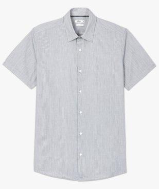 Chemise rayée à manches courtes coupe Regular vue4 - GEMO (HOMME) - GEMO