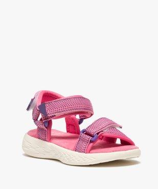 Sandales sport fille extra-légères à scratch vue2 - GEMO (ENFANT) - GEMO
