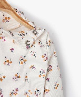 Tee-shirt bébé fille en maille côtelée à motifs fleuris vue2 - Nikesneakers C4G BEBE - Nikesneakers