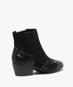Boots femme style santiags multimatières à col élastiqué vue4 - Nikesneakers (CASUAL) - Nikesneakers