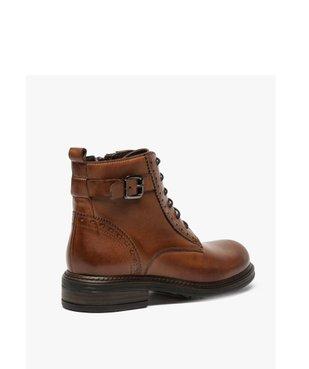 Boots fille zippées dessus cuir uni avec bordures perforées vue4 - GEMO (ENFANT) - GEMO