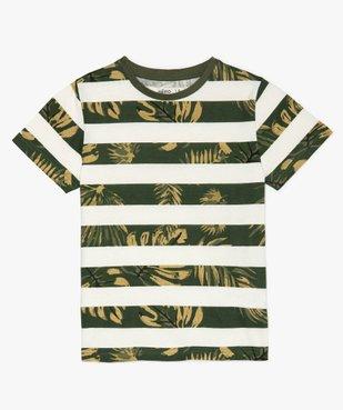 Tee-shirt garçon à rayures et motifs exotiques vue2 - GEMO (ENFANT) - GEMO