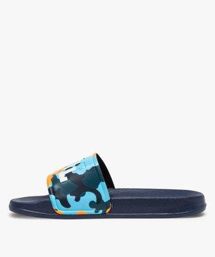 Mules de piscine garçon à bandeau camo « Cool » vue3 - Nikesneakers (ENFANT) - Nikesneakers