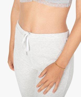 Pantalon de pyjama femme en maille côtelée vue2 - Nikesneakers(HOMWR FEM) - Nikesneakers